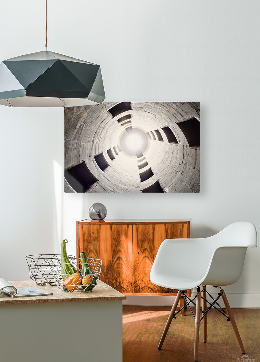 silo perspective  HD Metal print with Floating Frame on Back