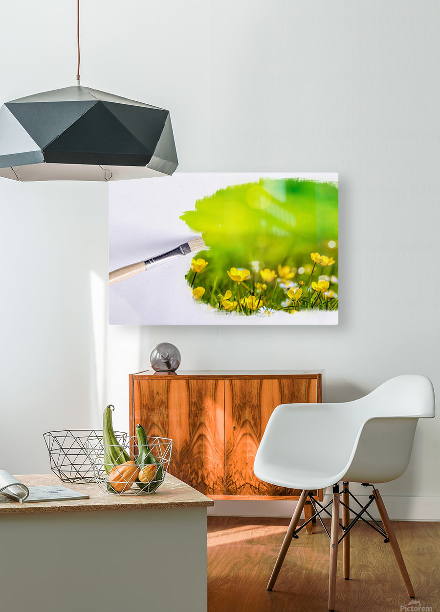 Paintbrush Outdoor Flower Flowers Sunlight  HD Metal print with Floating Frame on Back