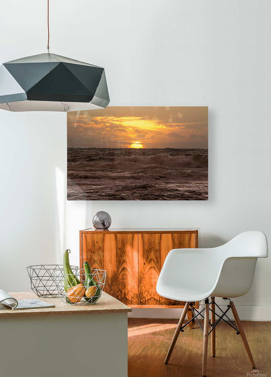 Fire & Water  HD Metal print with Floating Frame on Back
