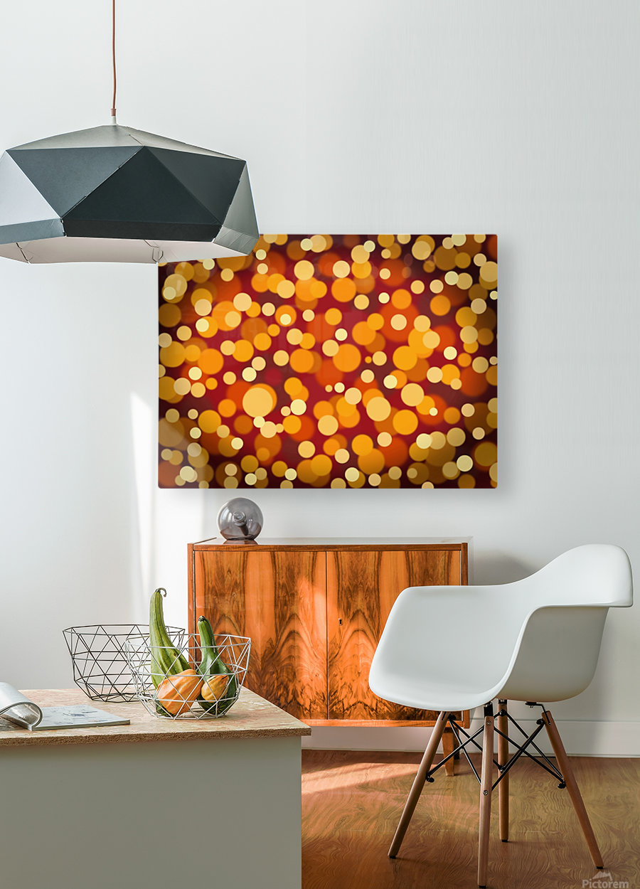Abstract Background Party Lights Party Lights  HD Metal print with Floating Frame on Back