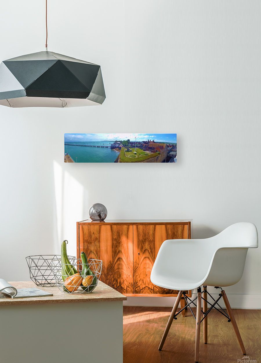 Ferry view  HD Metal print with Floating Frame on Back