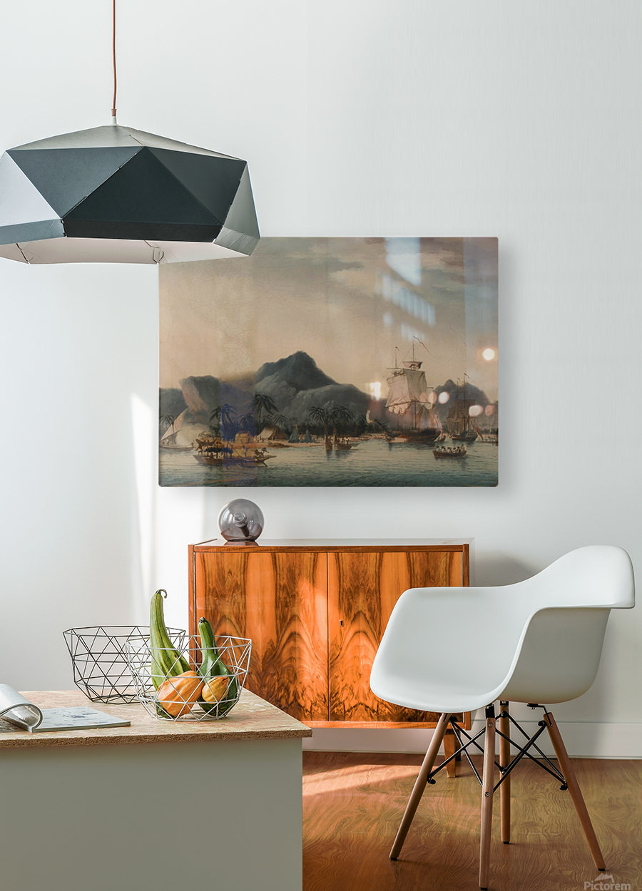The Resolution and Discovery off Hawaii  HD Metal print with Floating Frame on Back