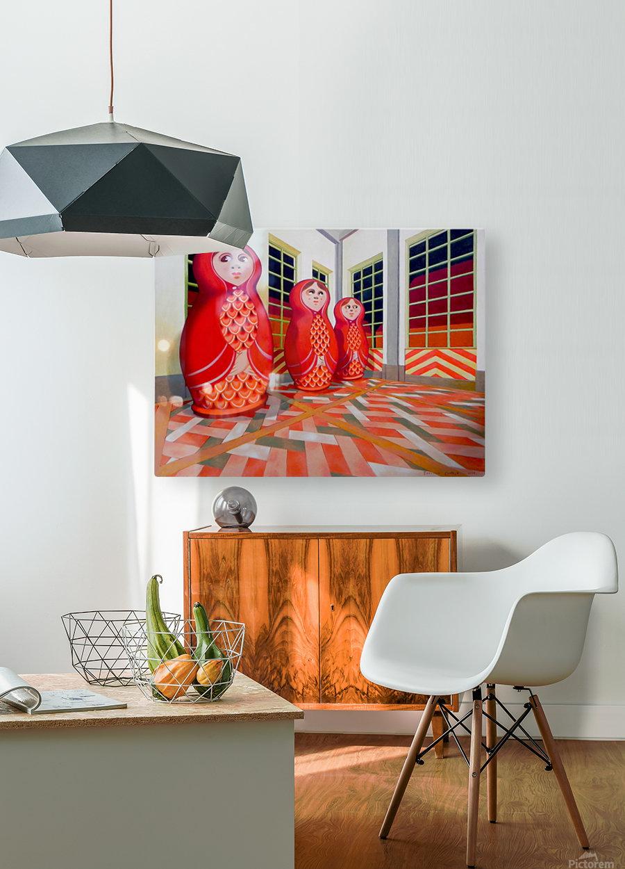 Matryoshka  HD Metal print with Floating Frame on Back