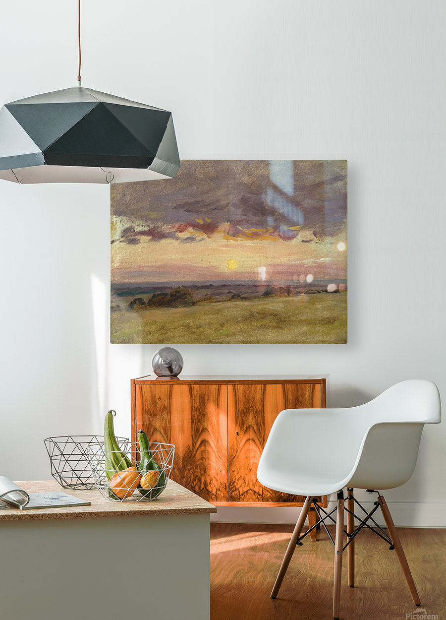 Summer  HD Metal print with Floating Frame on Back
