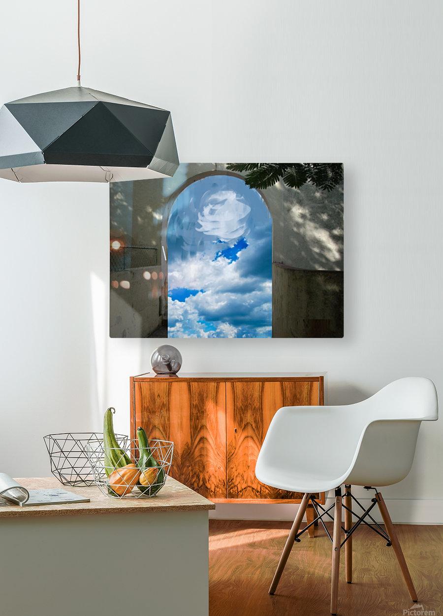 ArtDesign26.com   gate to sky  HD Metal print with Floating Frame on Back