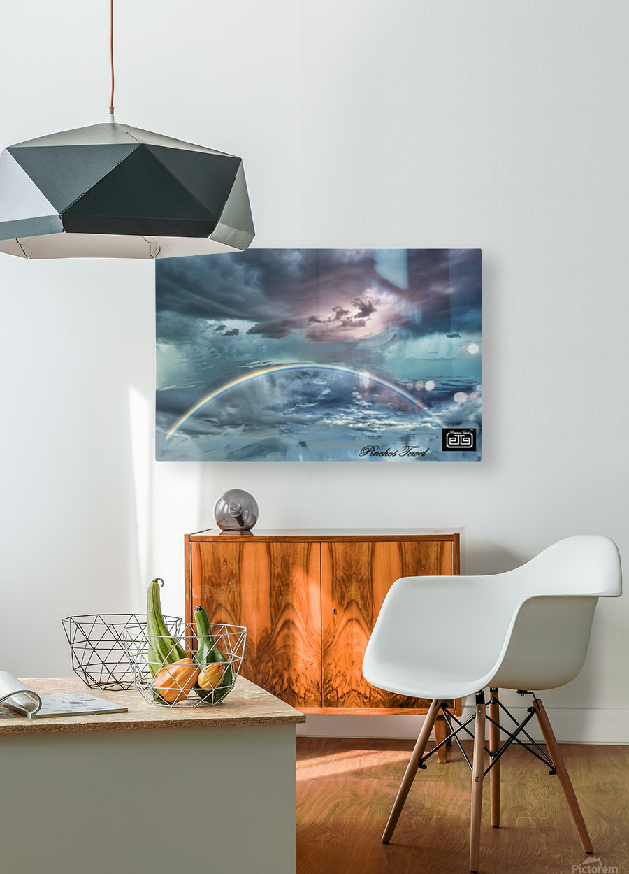 RAINBOW STORM 1  HD Metal print with Floating Frame on Back