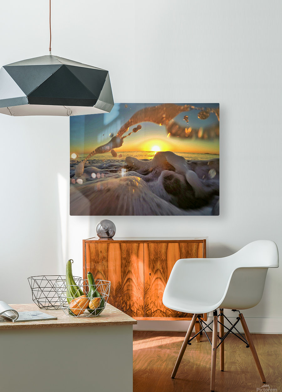 Peace Within the Chaos  HD Metal print with Floating Frame on Back