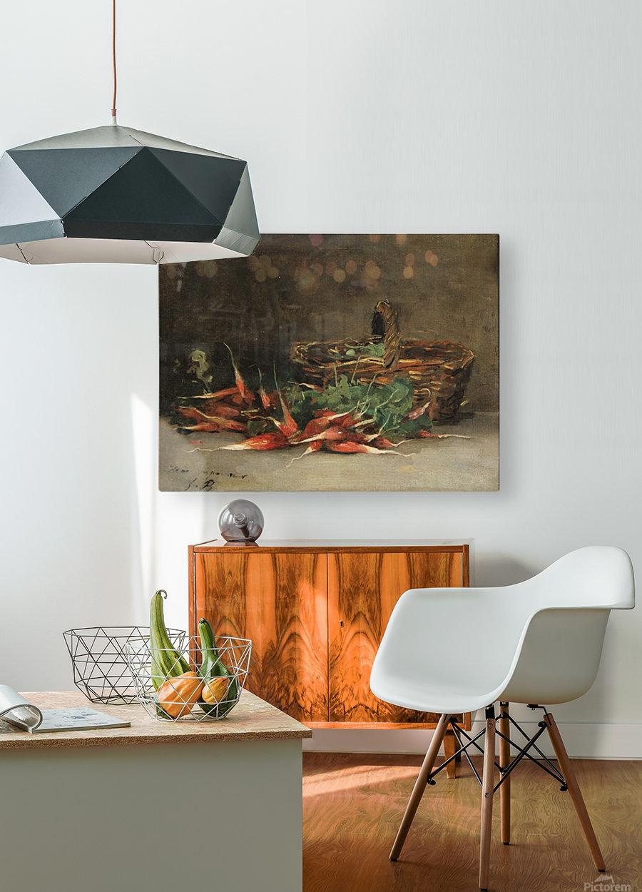 Still life basket  Impression métal HD avec cadre flottant sur le dos