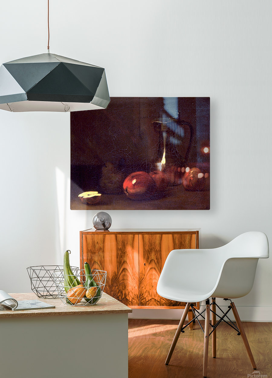 Still life with apples  HD Metal print with Floating Frame on Back