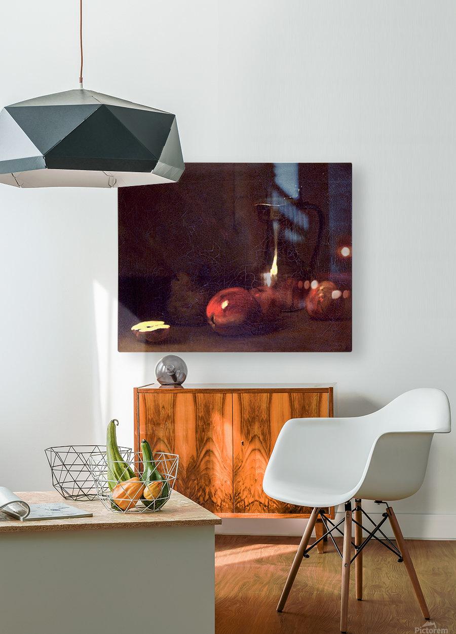 Still life with apples  Impression métal HD avec cadre flottant sur le dos