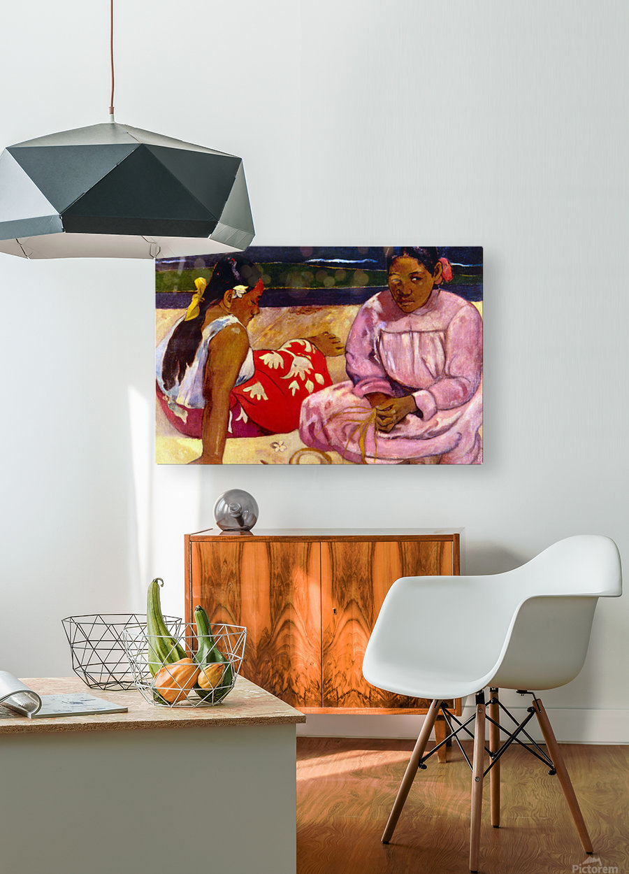 Women of Tahiti by Gauguin  HD Metal print with Floating Frame on Back