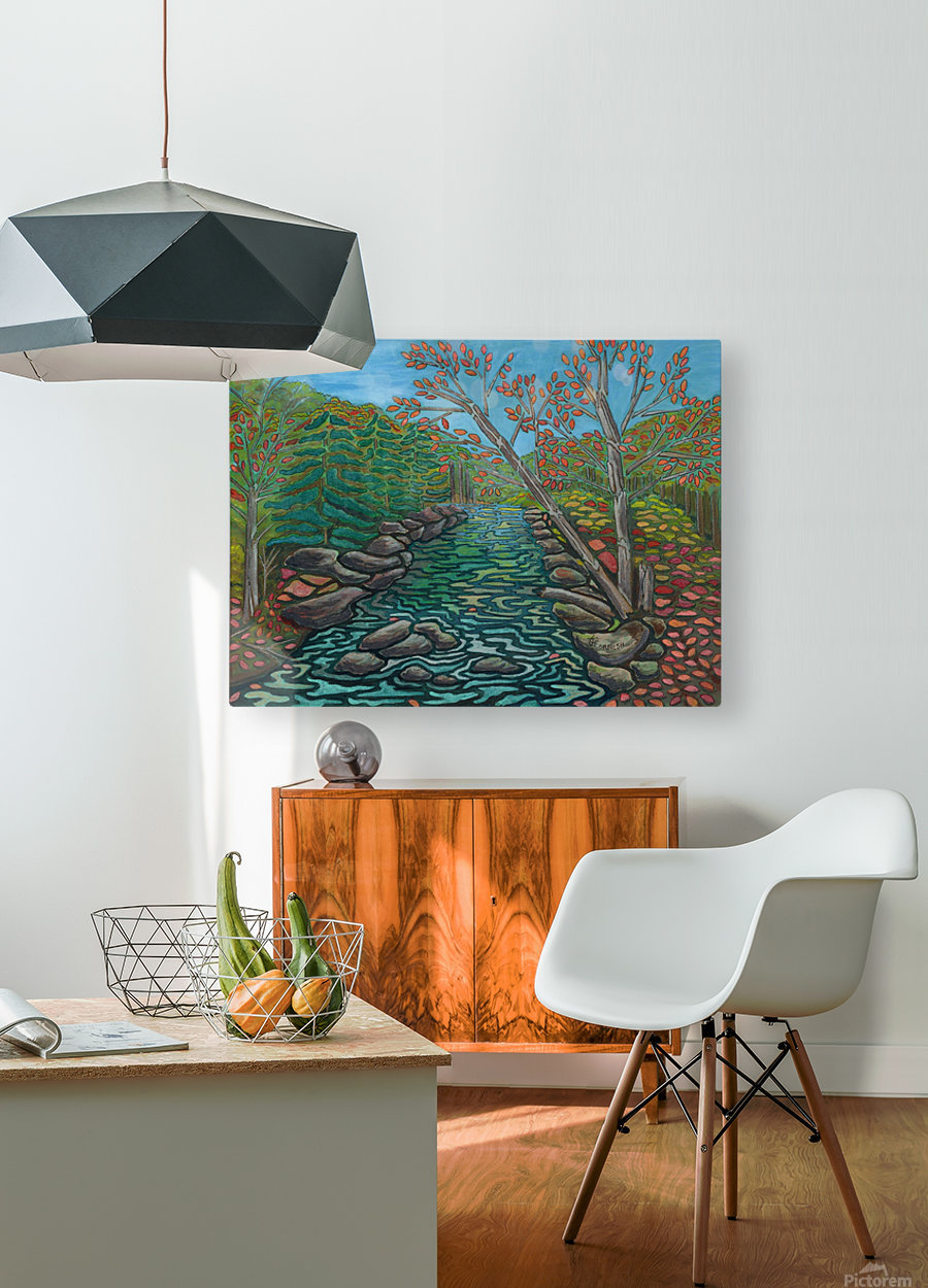 A River View  HD Metal print with Floating Frame on Back