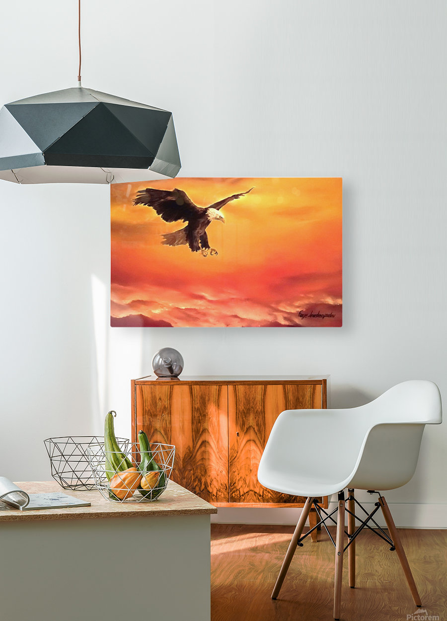 Soaring High  HD Metal print with Floating Frame on Back