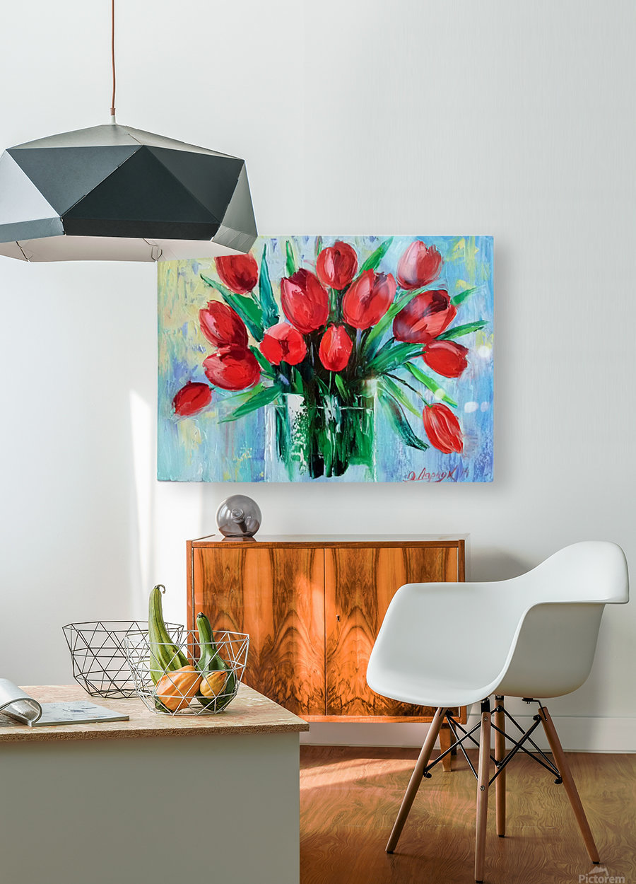 Тюльпаны  HD Metal print with Floating Frame on Back