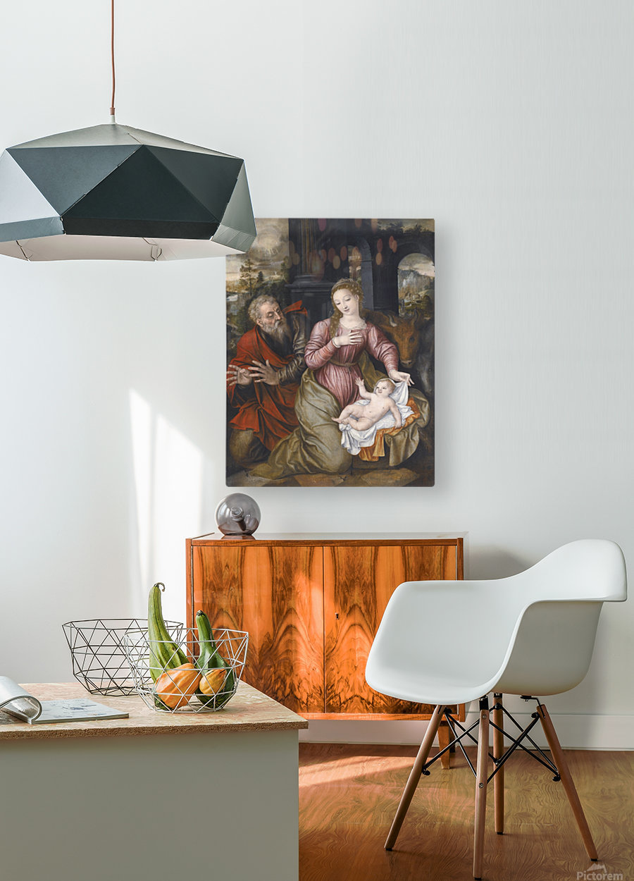 Madonna and child  HD Metal print with Floating Frame on Back