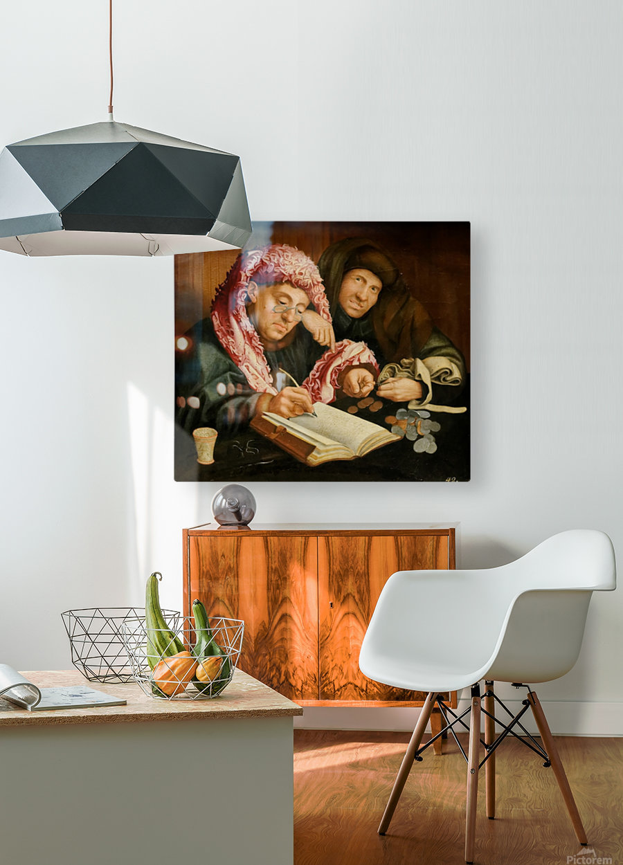 Le collecteur d'impots  HD Metal print with Floating Frame on Back