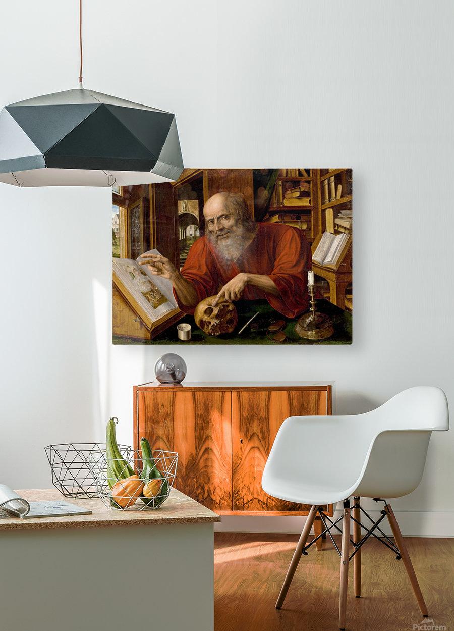 Saint Jerome  HD Metal print with Floating Frame on Back