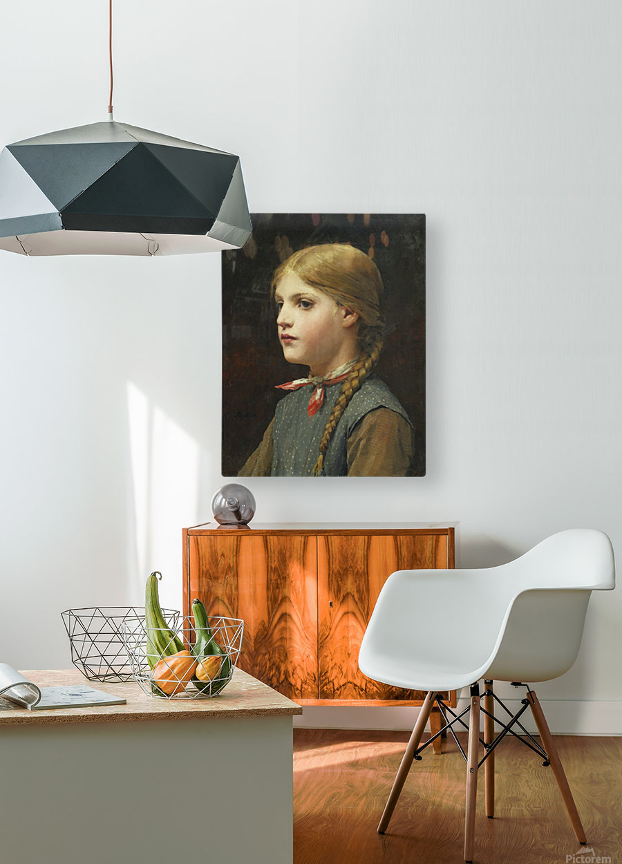 A young girl  HD Metal print with Floating Frame on Back