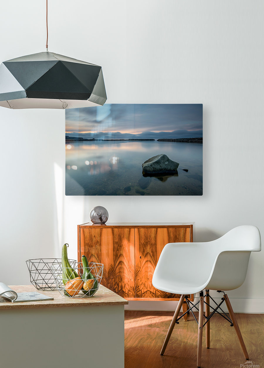 Inside the Harbour  HD Metal print with Floating Frame on Back