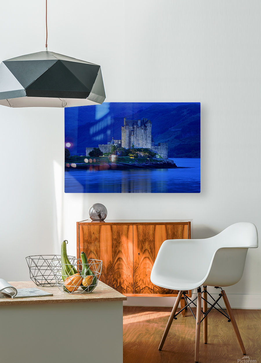 Eilean Donan Castle In Scotland  HD Metal print with Floating Frame on Back