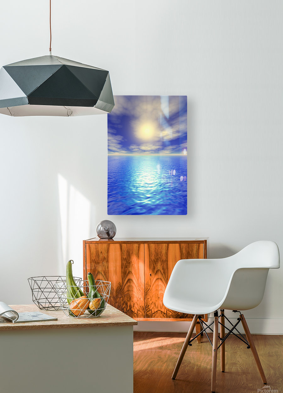 Scenic Ocean View  HD Metal print with Floating Frame on Back