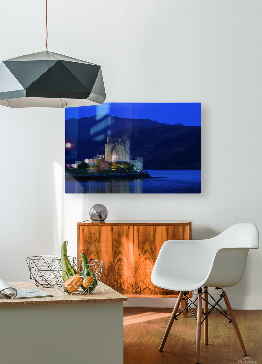 Castle In Scotland  HD Metal print with Floating Frame on Back
