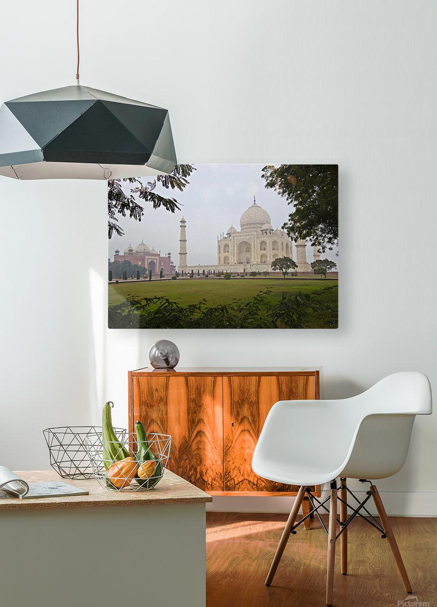 Tajmahal  HD Metal print with Floating Frame on Back