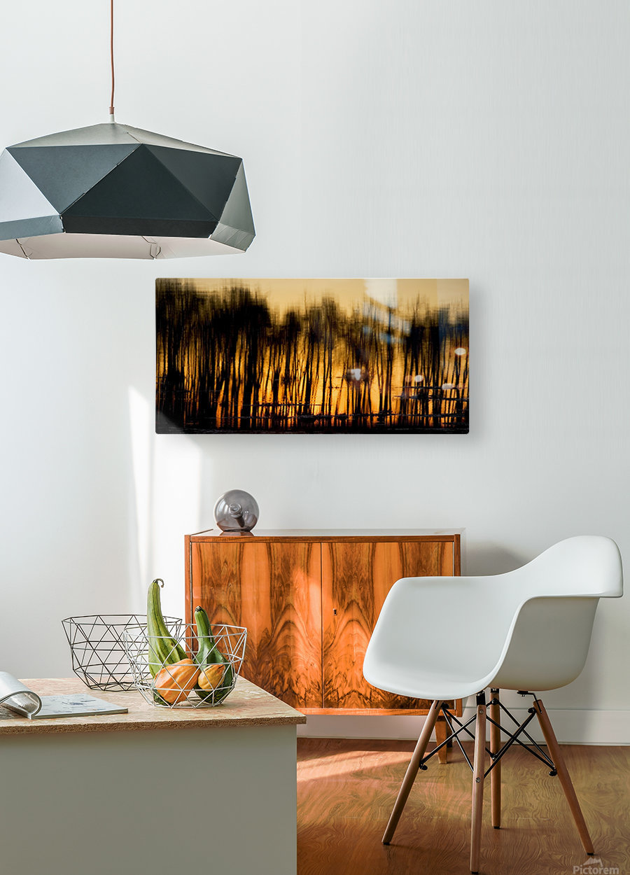 Reflections In Water  HD Metal print with Floating Frame on Back