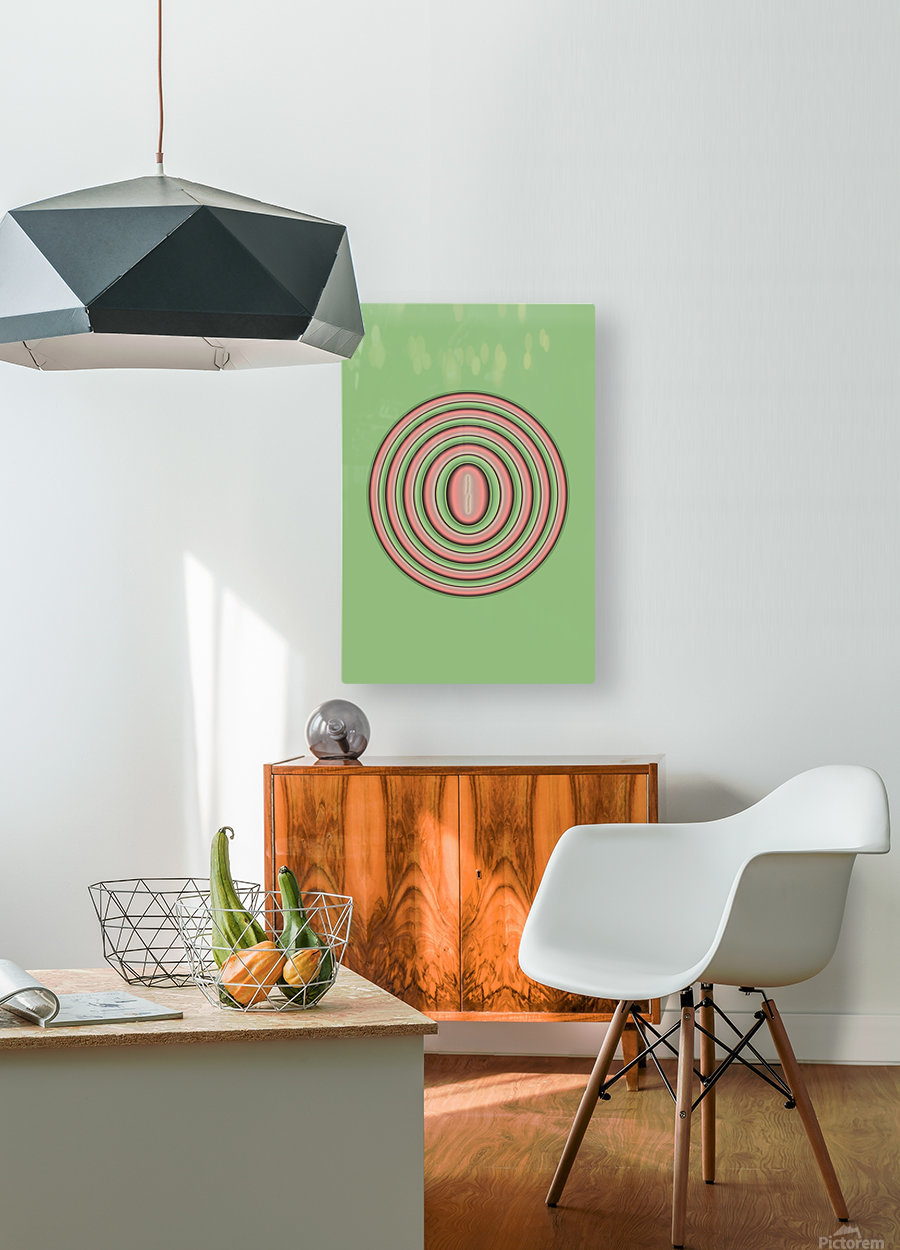 Concentric Circles  HD Metal print with Floating Frame on Back