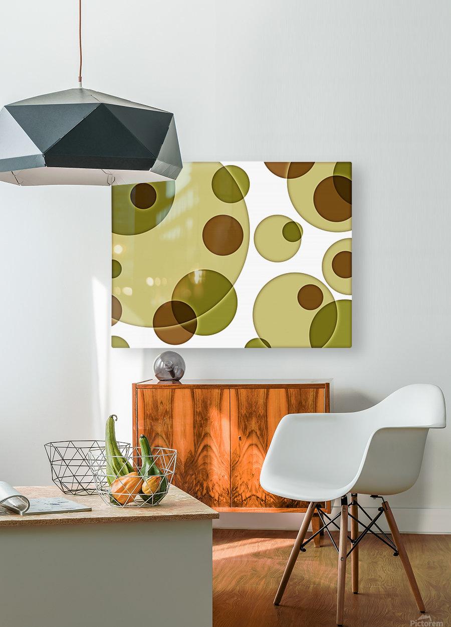 Orbicular Design  HD Metal print with Floating Frame on Back