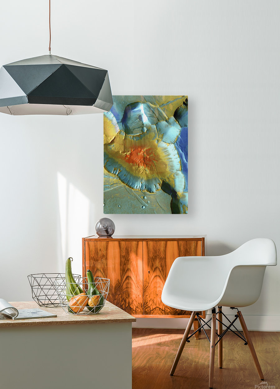 Mars Aerial View  HD Metal print with Floating Frame on Back