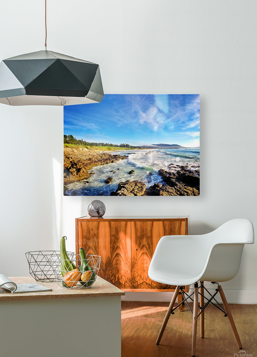 Pebble Beach GC  HD Metal print with Floating Frame on Back