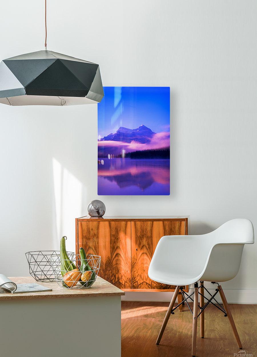 Maligne Lake, Jasper National Park, Alberta, Canada  HD Metal print with Floating Frame on Back