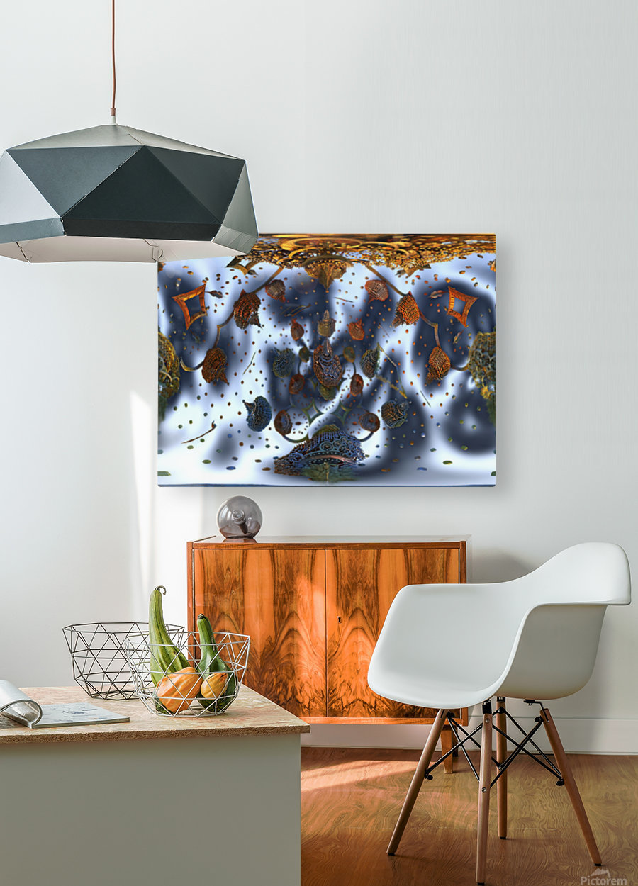 floating city  HD Metal print with Floating Frame on Back