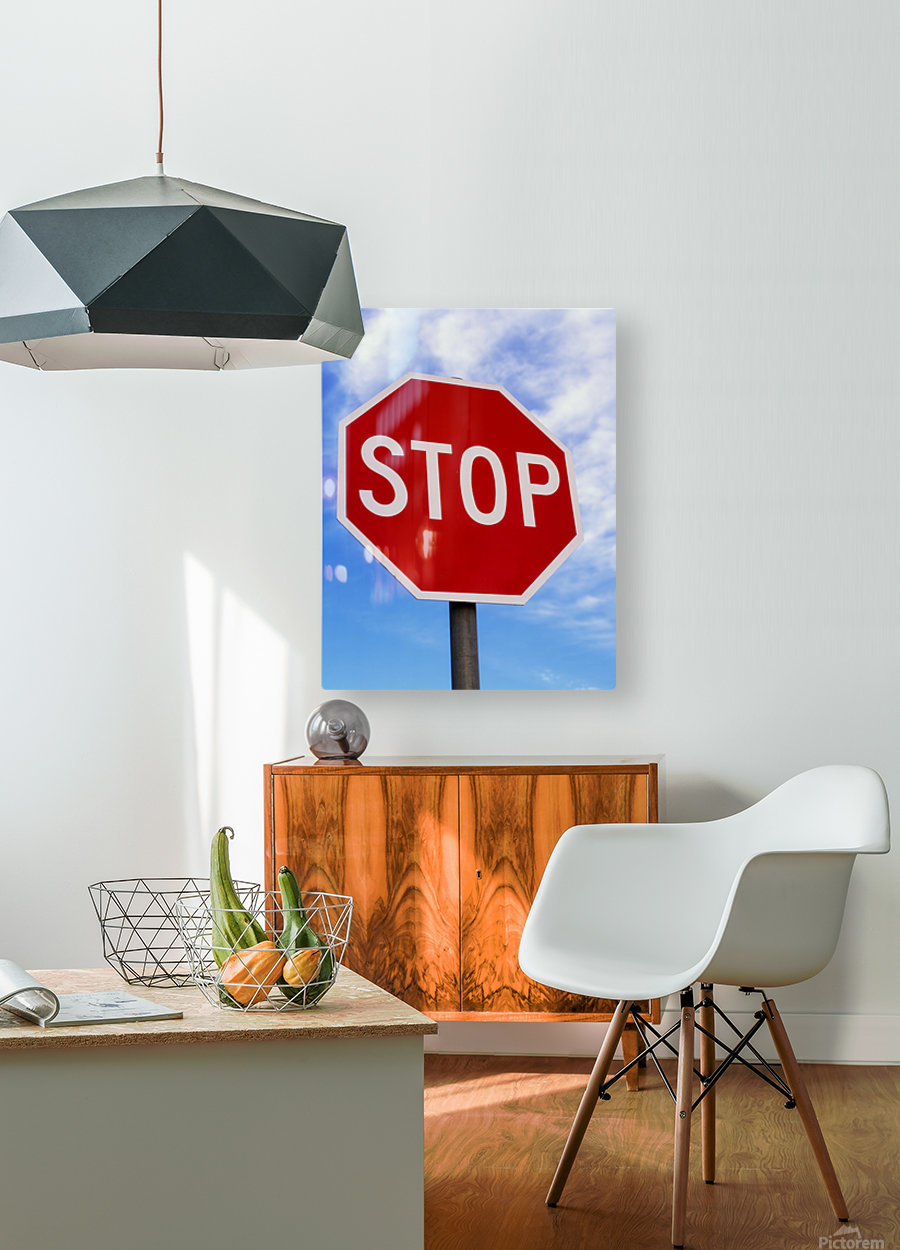 Stop Sign; Ireland  HD Metal print with Floating Frame on Back