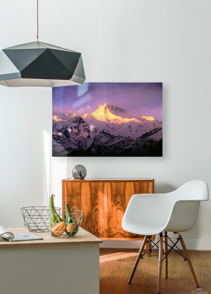 Annapurna South At Sunrise, Nepal  HD Metal print with Floating Frame on Back
