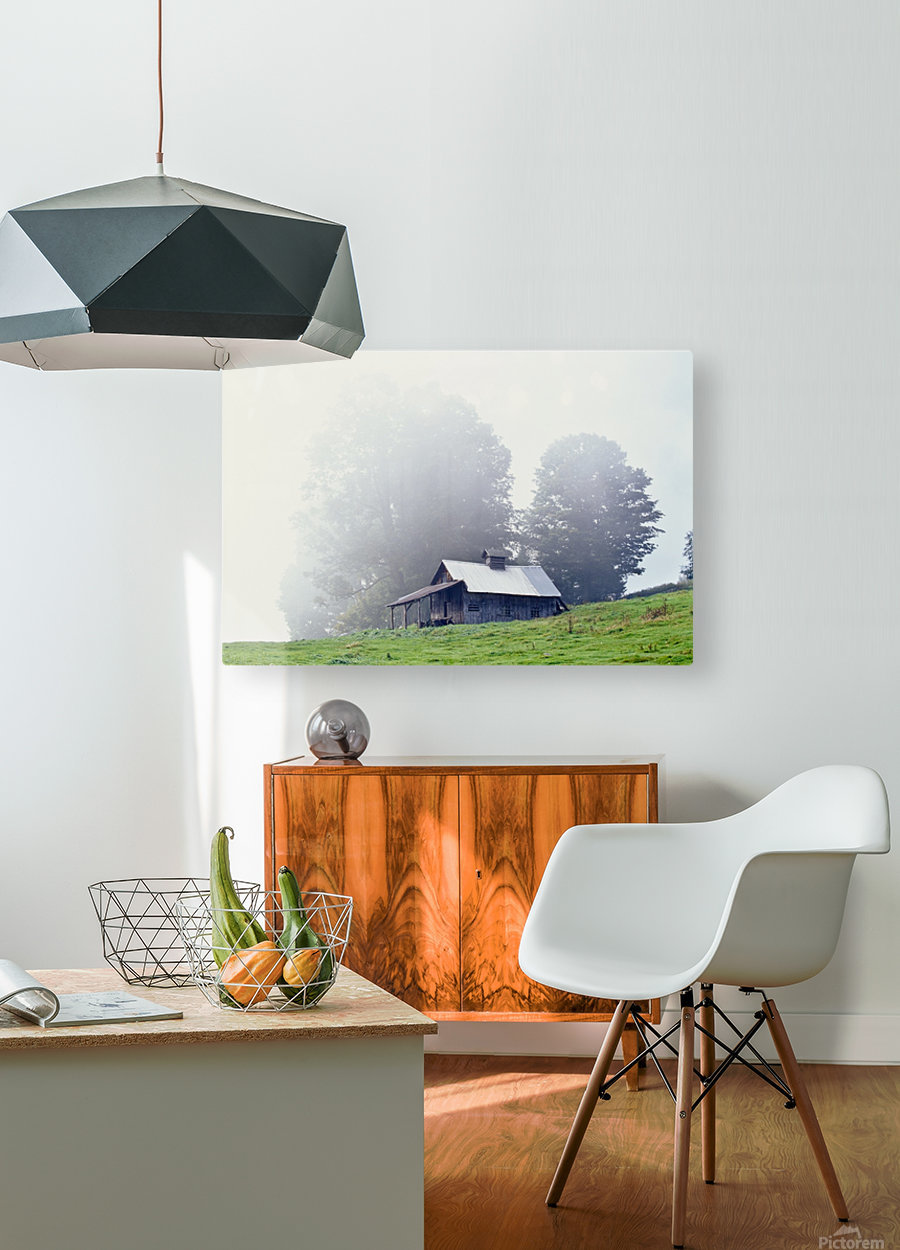 House Near Peacham, Vermont, Usa  HD Metal print with Floating Frame on Back