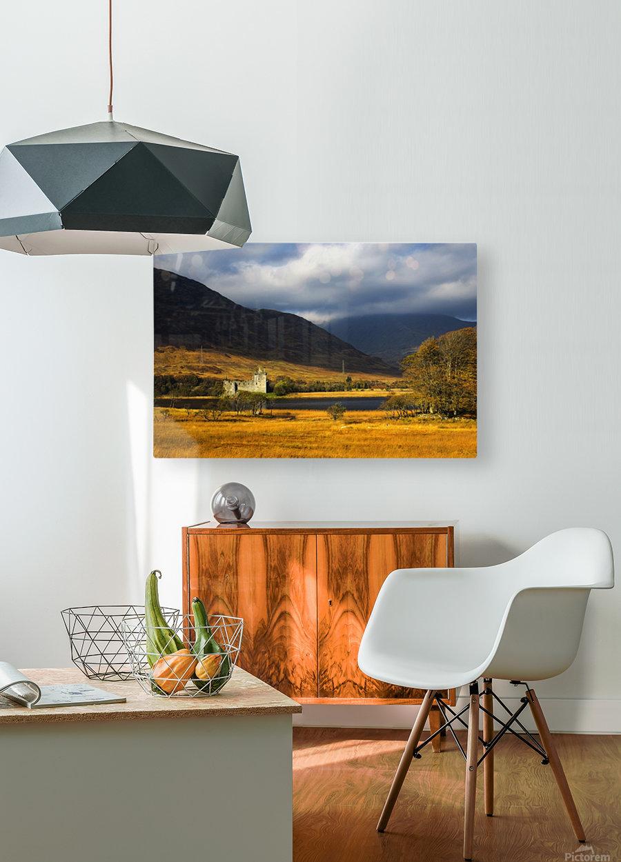 Kilchurn Castle, Loch Awe, Scotland  HD Metal print with Floating Frame on Back