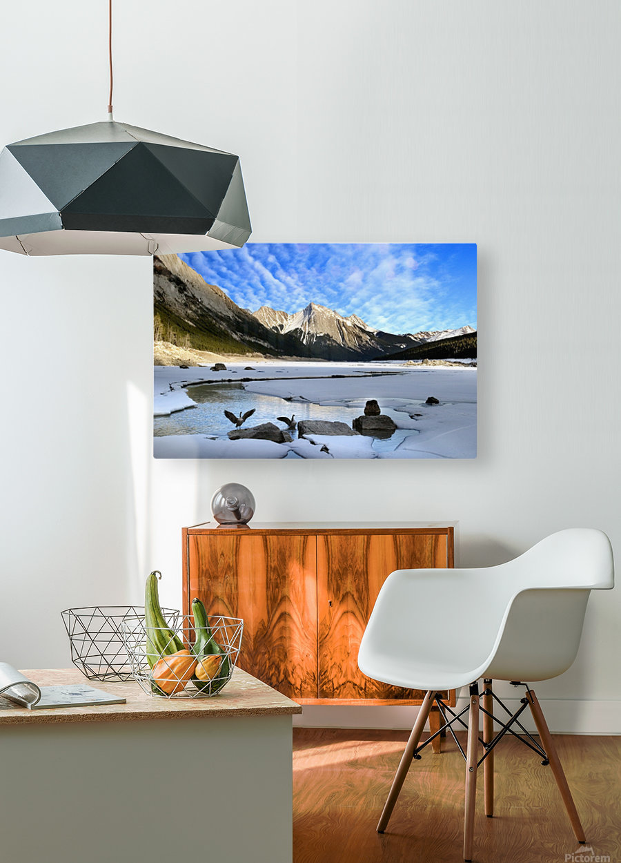 Medicine Lake, Jasper National Park, Alberta, Canada  HD Metal print with Floating Frame on Back