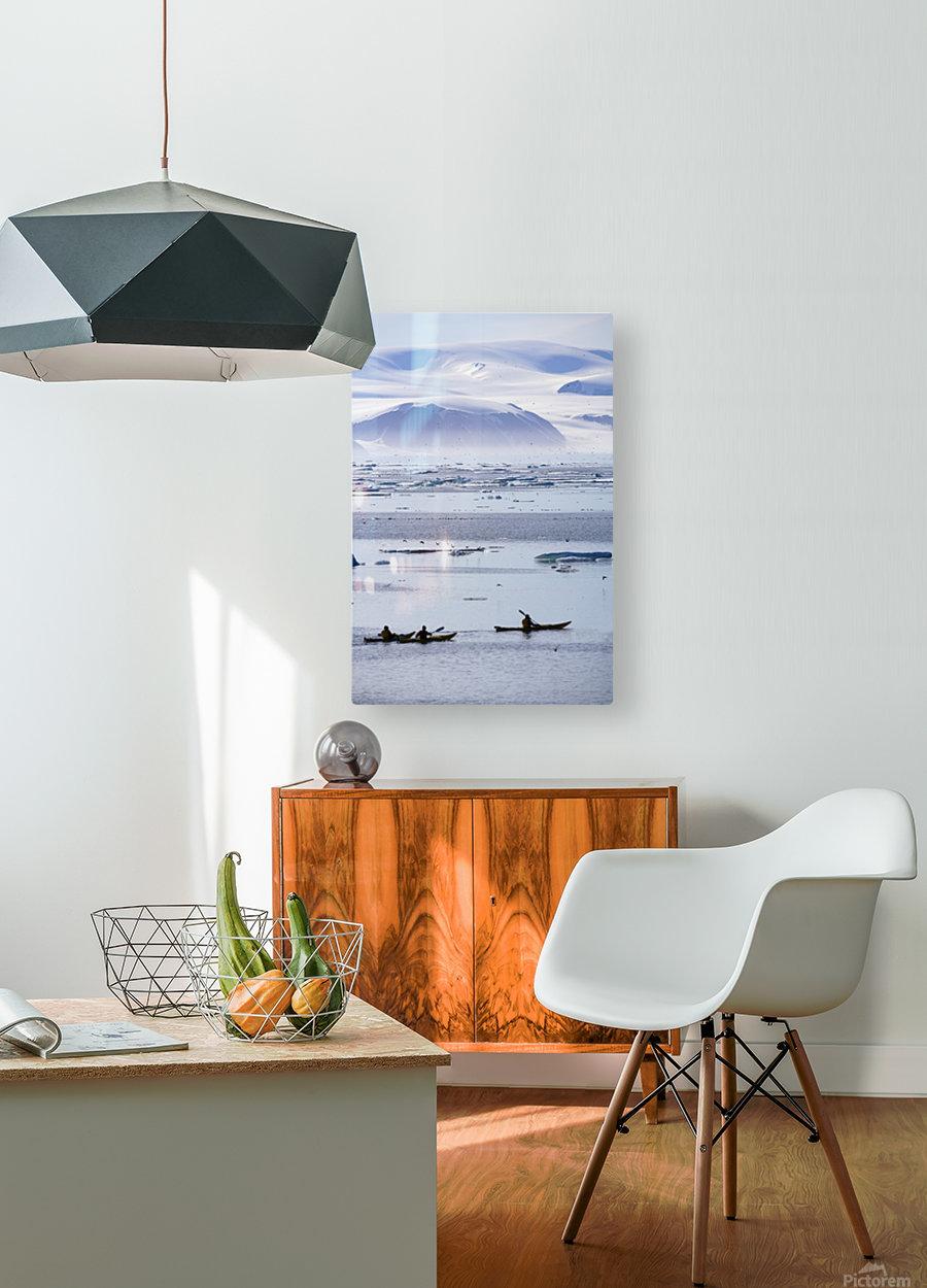 Kayaking, Nunavut, Canada  HD Metal print with Floating Frame on Back