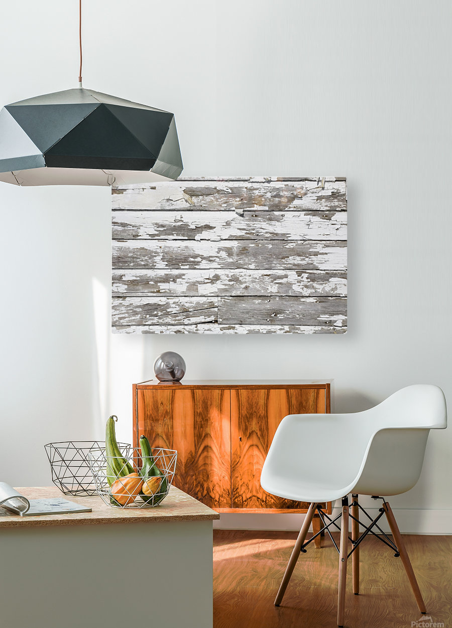 Paint Peeling Off Wood  HD Metal print with Floating Frame on Back
