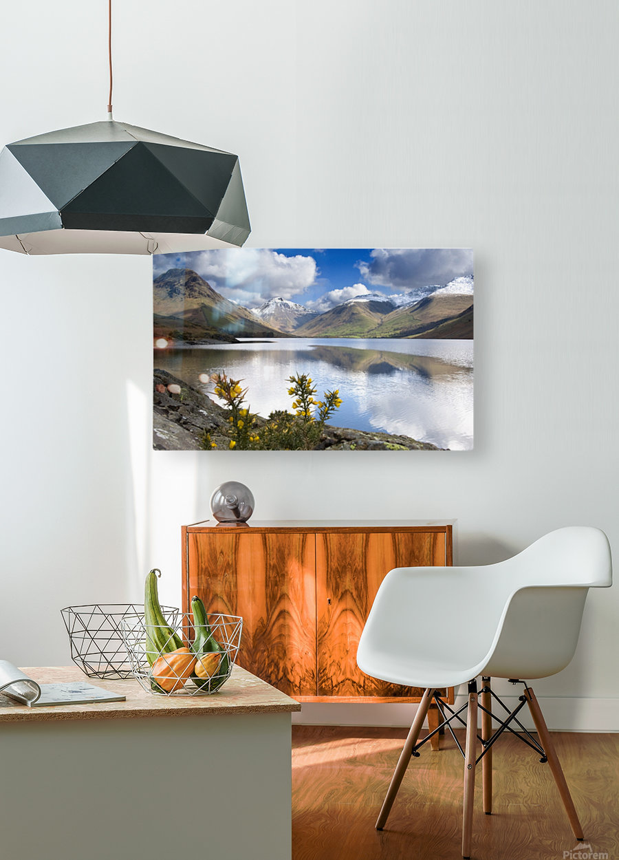 Mountains And Lake, Lake District, Cumbria, England, United Kingdom  HD Metal print with Floating Frame on Back