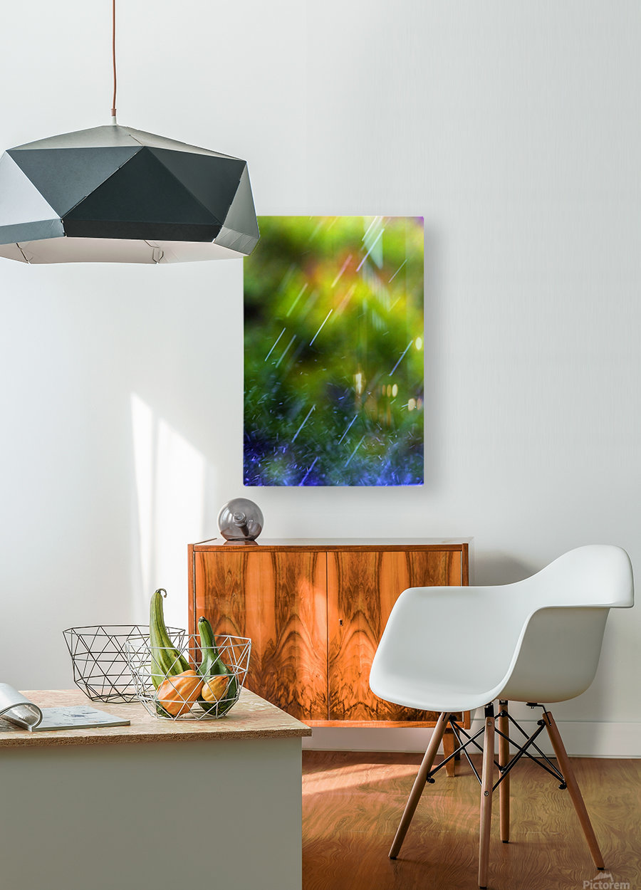Rain Falling  HD Metal print with Floating Frame on Back