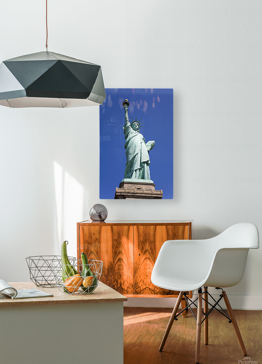 Statue Of Liberty, Lower Manhattan, New York City, New York, Usa  HD Metal print with Floating Frame on Back
