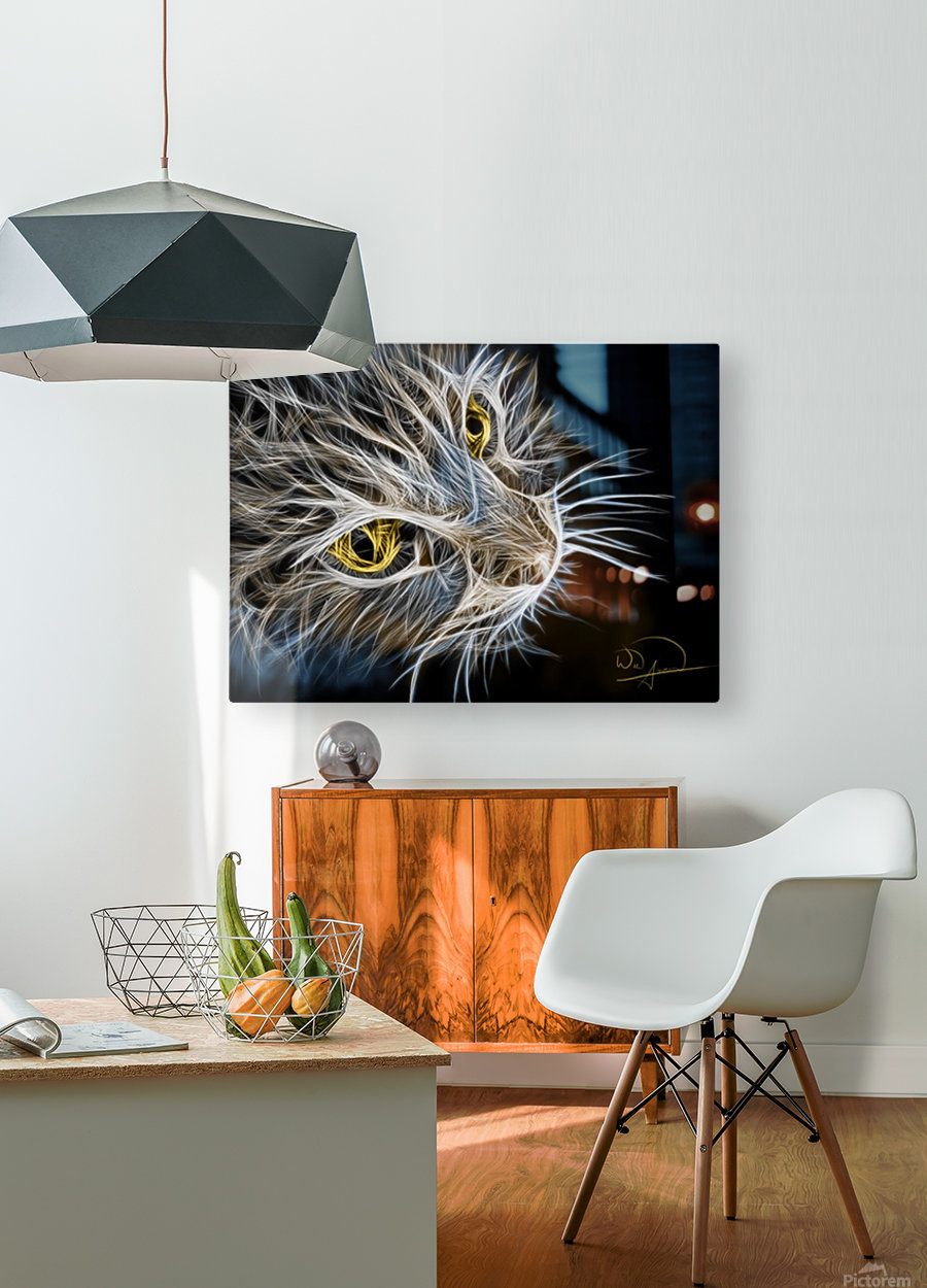 Cat Abstracto  HD Metal print with Floating Frame on Back