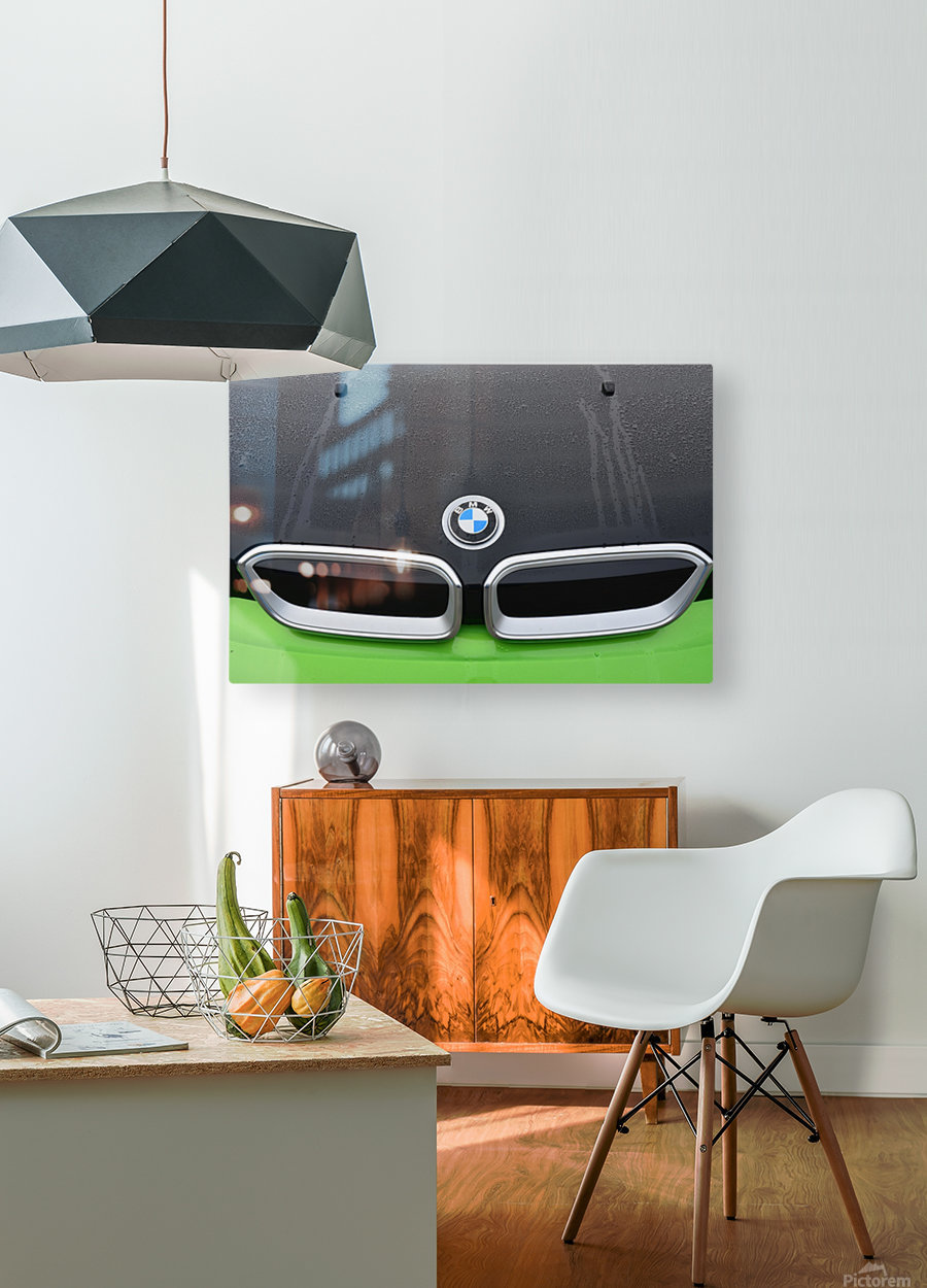 bmw  HD Metal print with Floating Frame on Back
