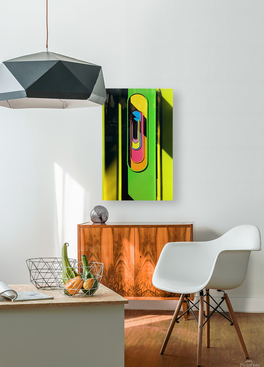 Looking Through Colorful Ovals  HD Metal print with Floating Frame on Back
