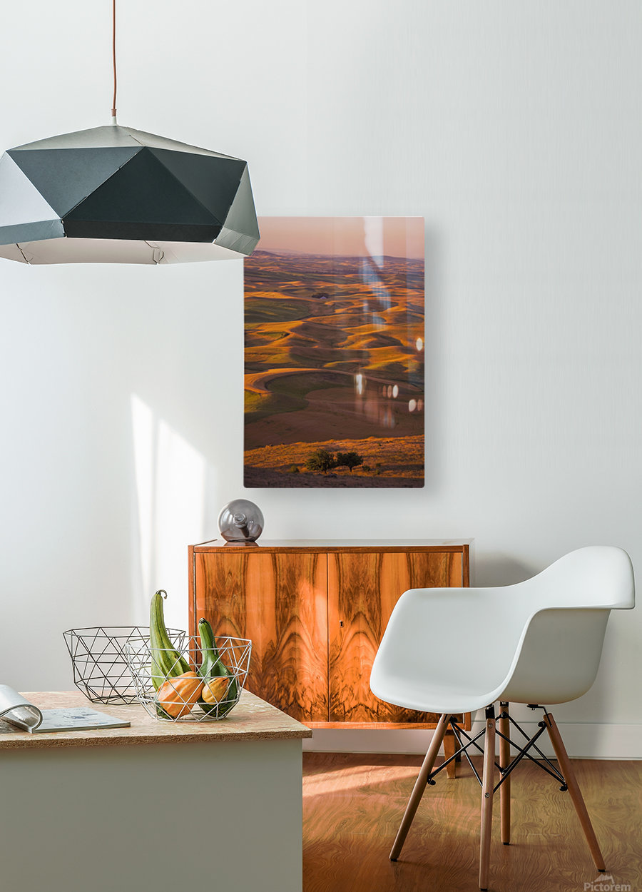 Hilly Landscape  HD Metal print with Floating Frame on Back