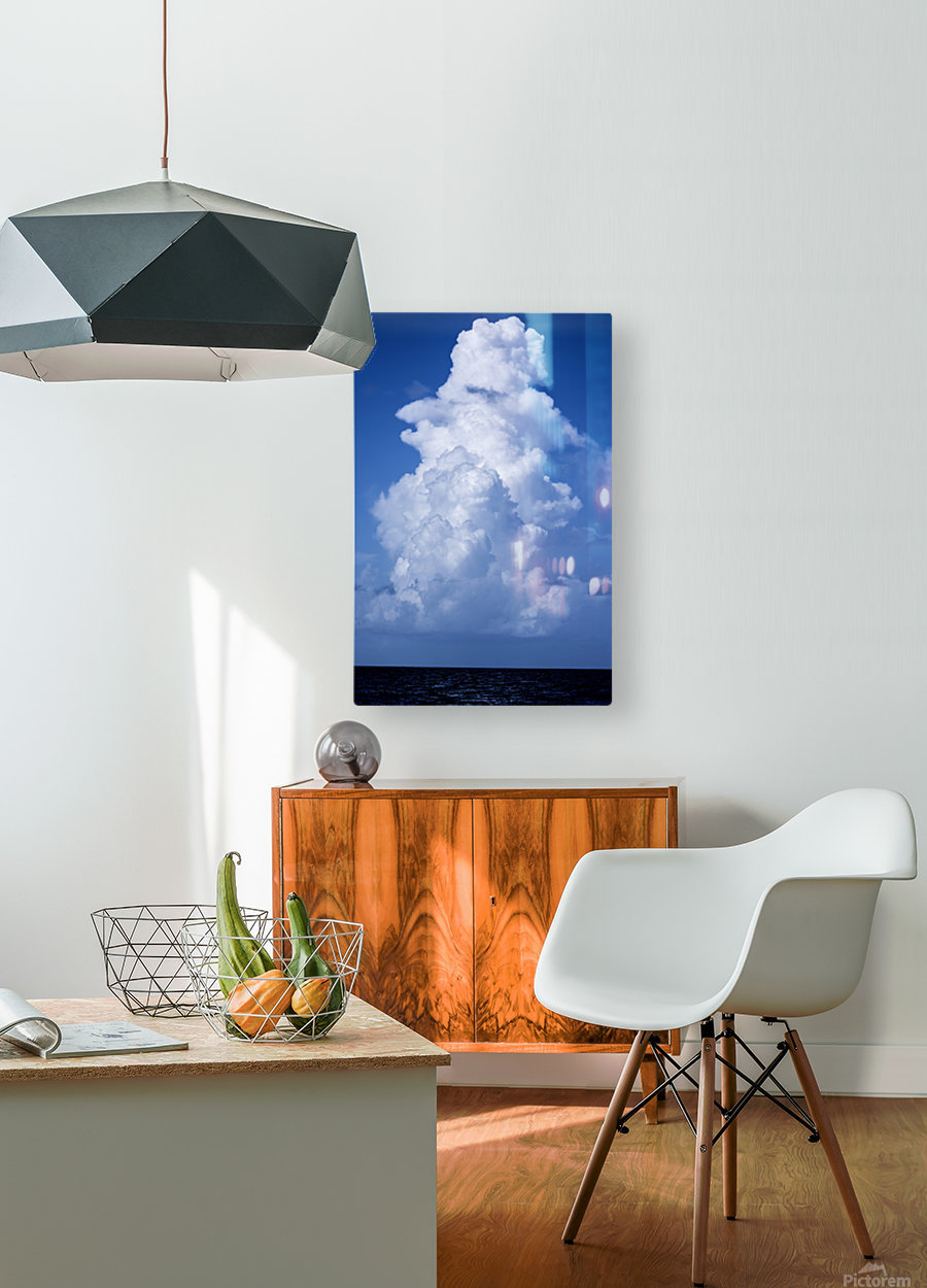 Billowing  HD Metal print with Floating Frame on Back