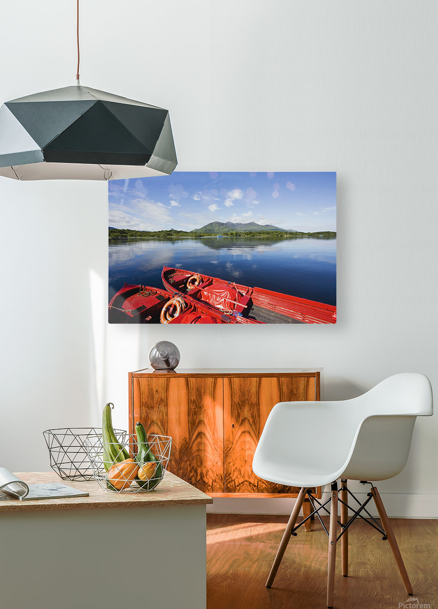 Killarney, County Kerry, Munster, Ireland; Two Boats In The Water  HD Metal print with Floating Frame on Back